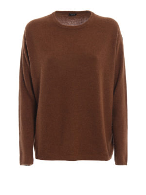 ASPESI: maglia collo rotondo - Pull in lana e angora color cammello
