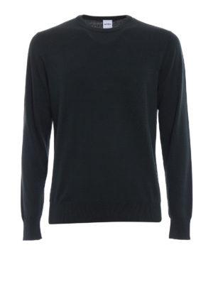 Aspesi: crew necks - Cotton crew neck dark green sweater