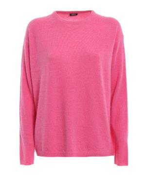 ASPESI: maglia collo rotondo - Pull in lana e angora color rosa fluo