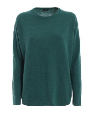 ASPESI: maglia collo rotondo - Pull in lana e angora verdone