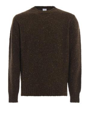 ASPESI: maglia collo rotondo - Maglione verde in lana mélange