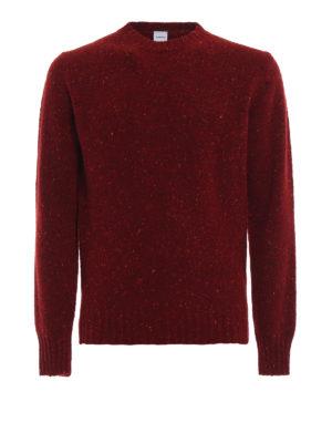 ASPESI: maglia collo rotondo - Maglione rosso in lana mélange