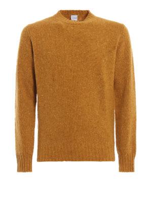 ASPESI: maglia collo rotondo - Maglione giallo in lana mélange