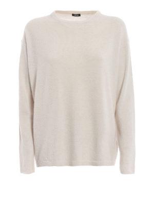 ASPESI: maglia collo rotondo - Pull in lana e angora color bianco avorio