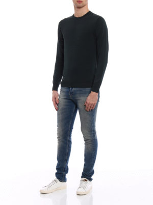 Aspesi: crew necks online - Cotton crew neck dark green sweater