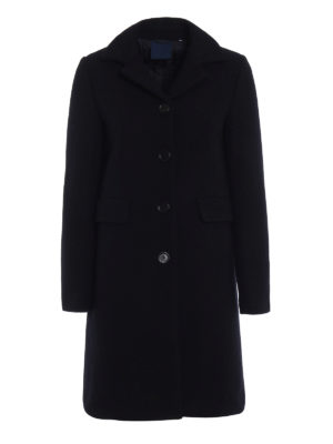 Aspesi: knee length coats - Single-breasted wool coat