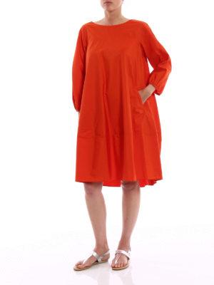 Aspesi: knee length dresses online - Oversize pure cotton dress