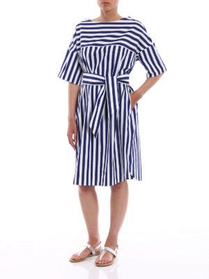 Aspesi: knee length dresses online - Pure cotton striped dress