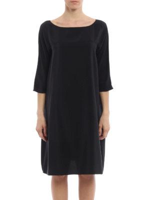 Aspesi: knee length dresses online - Relaxed tunic silk dress