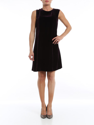 Aspesi: knee length dresses online - Velvet dress