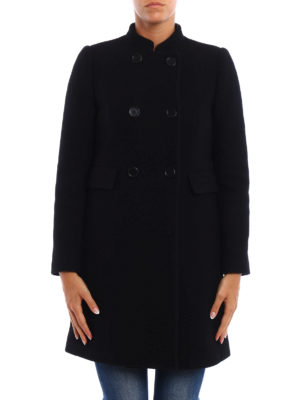 Aspesi: knee length dresses online - Wool bouclé double-breasted coat