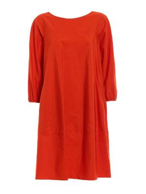 Aspesi: knee length dresses - Oversize pure cotton dress