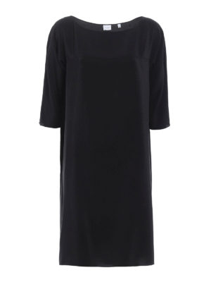 Aspesi: knee length dresses - Relaxed tunic silk dress
