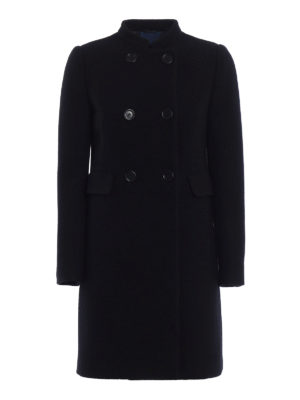 Aspesi: knee length dresses - Wool bouclé double-breasted coat