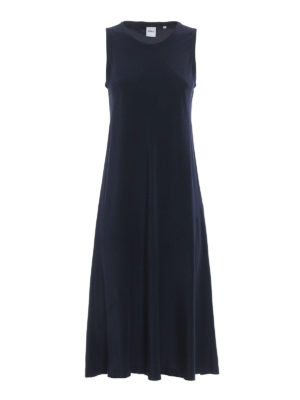 Aspesi: maxi dresses - A-line sleeveless silk dress