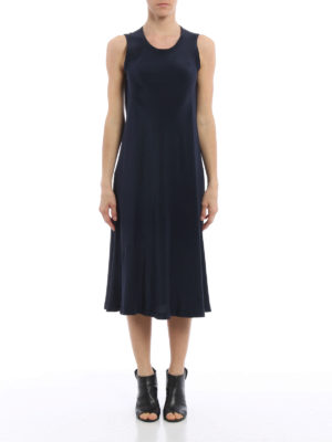 Aspesi: maxi dresses online - A-line sleeveless silk dress