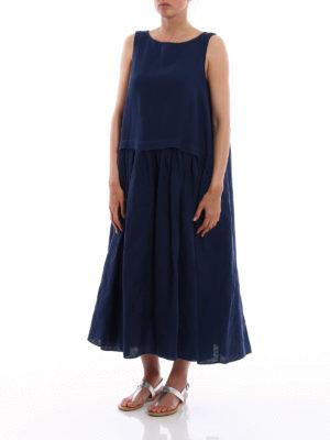 Aspesi: maxi dresses online - Oversize pure linen dress