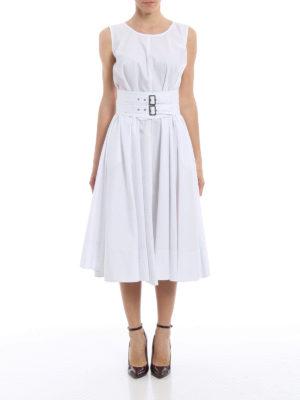 Aspesi: maxi dresses online - Sleeveless flared cotton dress