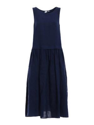 Aspesi: maxi dresses - Oversize pure linen dress