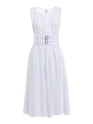 Aspesi: maxi dresses - Sleeveless flared cotton dress