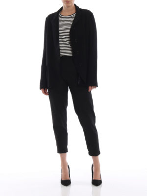 ASPESI: giacche blazer online - Blazer nero in leggera crepe