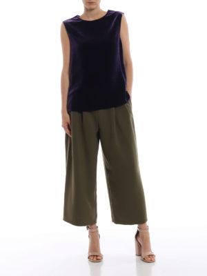 ASPESI: bluse online - Blusa viola in velluto liscio senza maniche