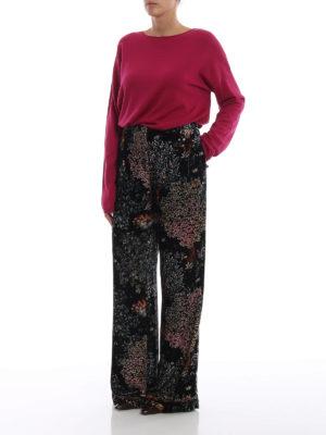 ASPESI: maglia collo a barchetta online - Pull a barchetta in lana color fucsia