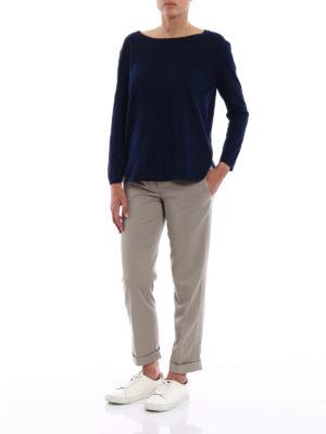 ASPESI: maglia collo a barchetta online - Maglia in cotone leggerissimo