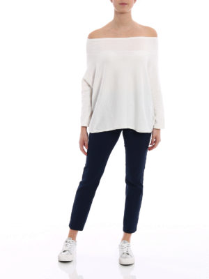 ASPESI: maglia collo a barchetta online - Maglia boxy in cotone