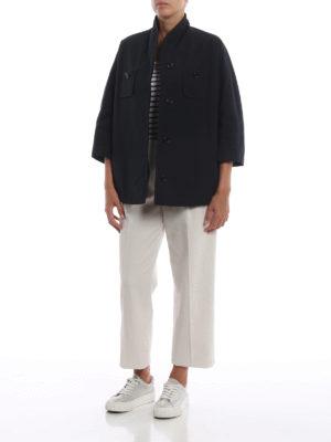 ASPESI: giacche casual online - Blazer impermeabile Castagna con linea ad A
