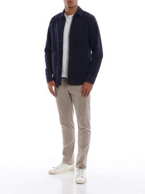 ASPESI: giacche casual online - Giacca in fustagno di cotone tinta in capo