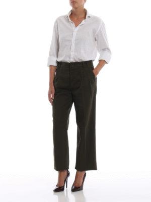 ASPESI: pantaloni casual online - Pantaloni casual in cotone verde con pinces