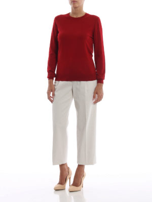 ASPESI: pantaloni casual online - Pantaloni casual in cotone con pinces