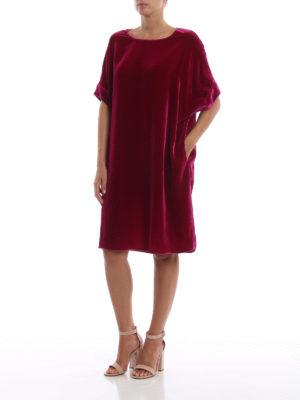 ASPESI: abiti al ginocchio online - Abito oversize morbido in velluto cangiante