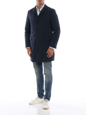 ASPESI: cappotti imbottiti online - Cappotto New Gene imbottito in nylon blu