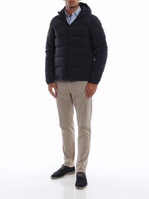 ASPESI: giacche imbottite online - Piumino Elastico in nylon opaco blu