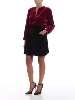 ASPESI: camicie online - Camicia in velluto liscio misto seta fucsia