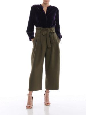 ASPESI: camicie online - Camicia in velluto liscio misto seta viola