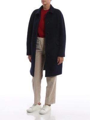 ASPESI: cappotti corti online - Cappotto mono petto a uovo in lana cotta