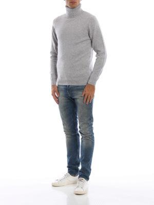 ASPESI: maglia a collo alto e polo online - Dolcevita in misto yack e cashmere grigio
