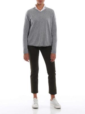 ASPESI: maglia collo a v online - Pullover a V grigio in  lana