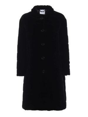 ASPESI: cappotti imbottiti - Cappotto Angostura in delicato velluto