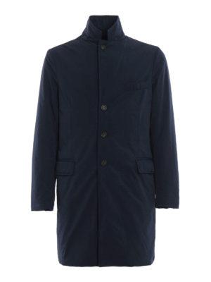 ASPESI: cappotti imbottiti - Cappotto New Gene imbottito in nylon blu