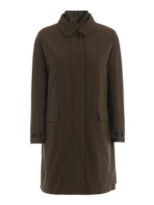 ASPESI: cappotti imbottiti - Trench Rabarbaro in gabardina tecnica