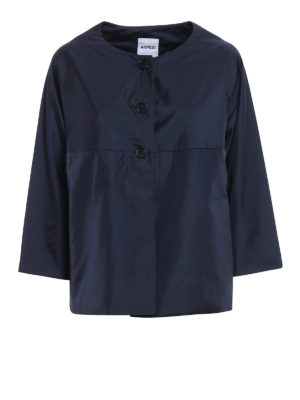 Aspesi: padded jackets - Budino water repellent blue jacket