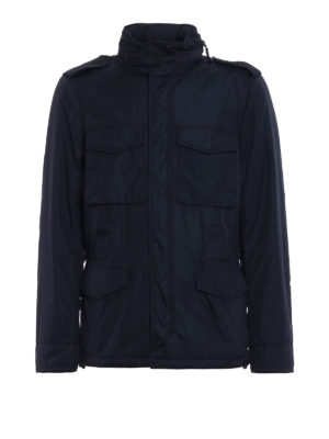 Aspesi: padded jackets - Minifield Wool Vento blue jacket