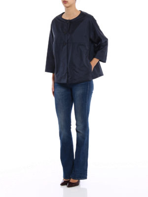 Aspesi: padded jackets online - Budino water repellent blue jacket