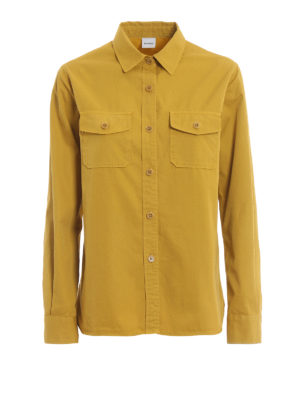 ASPESI: shirts - Cotton twill shirt with pockets