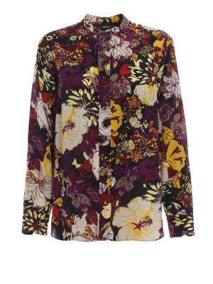 ASPESI: camicie - Camicia in seta stampata collo alla coreana