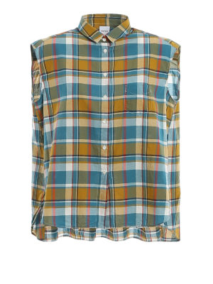 ASPESI: shirts - Madras print sleeveless shirt